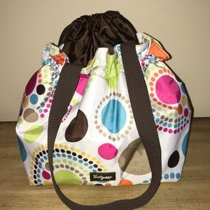 THIRTY ONE INSULATED DRAWSTRING LUNCH BAG
